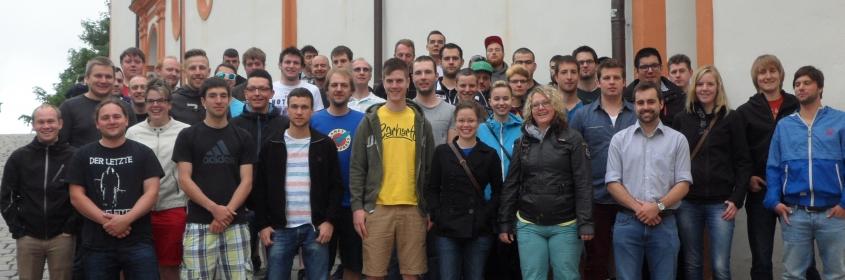 Die beiden Technikerklassen der Grundstufe der Feintechnikschule im Kloster Andechs