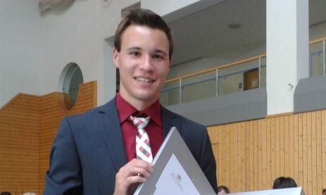 Sebastian Schmidl mit Porsche-Preis