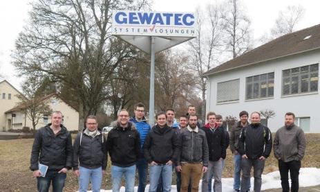 Besuch der Industriemeister FIM 17 bei Gewatec in Wehingen