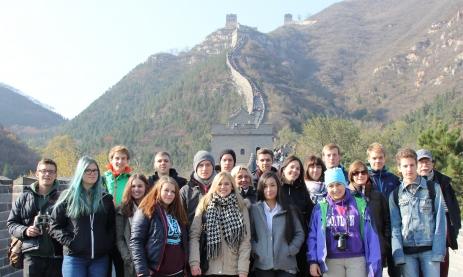Feintechnikschüler auf der chinesischen Mauer