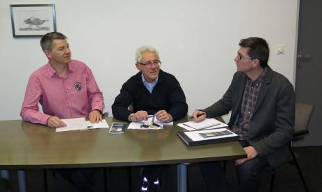 Schulleiter Thomas Ettwein, Fachabteilungsleiter Udo Held und Fachberater und Qualitätsbeauftragter Karl-Heinz Suske.