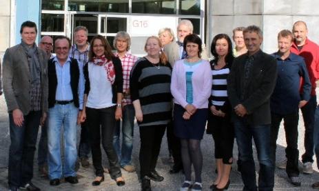Die Teilnehmer beim Internationalen  OSOW- Treffen  an der Beruflichen Schule Farmsen G16