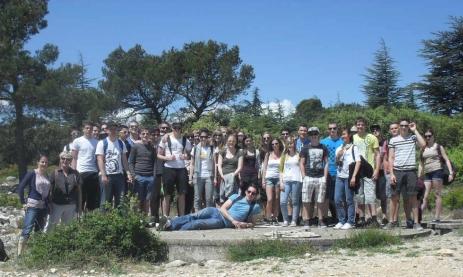 Bei der Wanderung im  Vaucluse-Gebirge