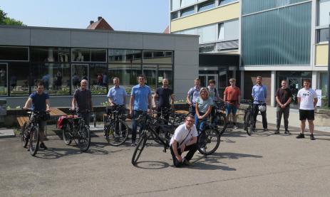 Das Stadtradeln-Team der Feintechnikschule