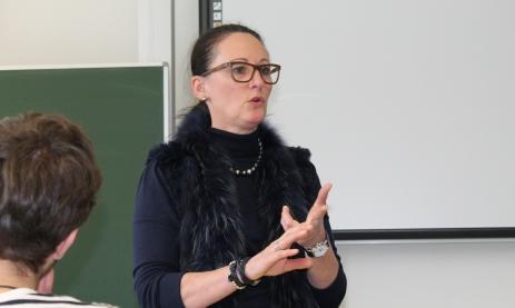 Referentin Ulrike Stauss gab als erfolgreiche Unternehmerin Infos aus erster Hand.