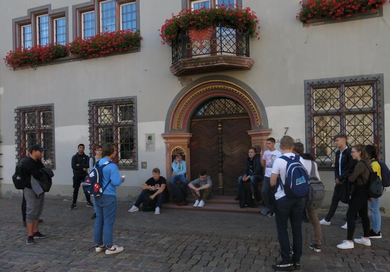 Eingangsklasse beim Rathaus