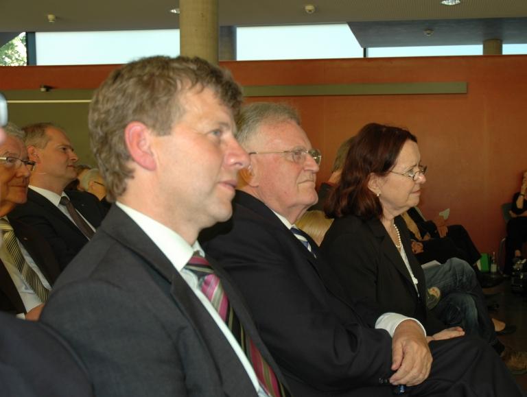 Abteilungsdirektor Thomas Hecht, Ministerpräsident a.D. Erwin Teufel