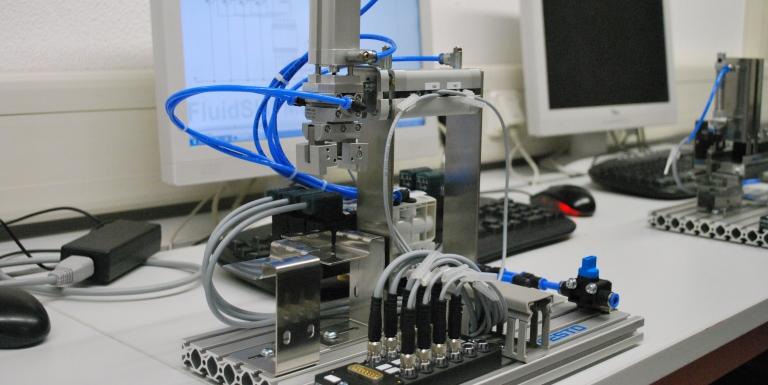 Pneumatikexperiment MecLab