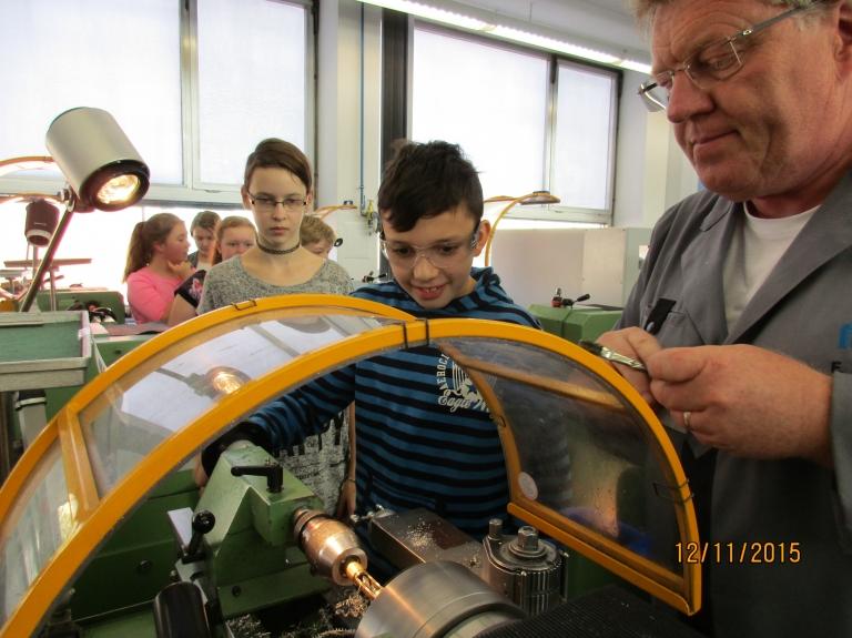 An der Maschine mit Frank Storz