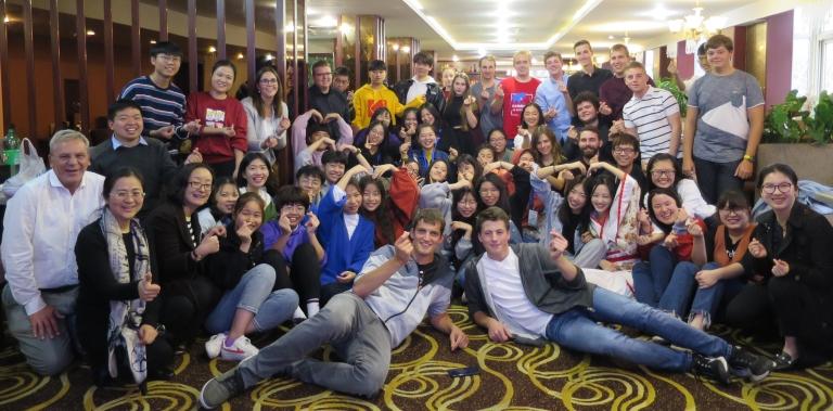 Abschiedsfoto der Austauschbegegnung in Ningbo, November 2018