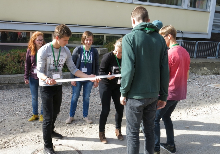 Schüler in Aktion
