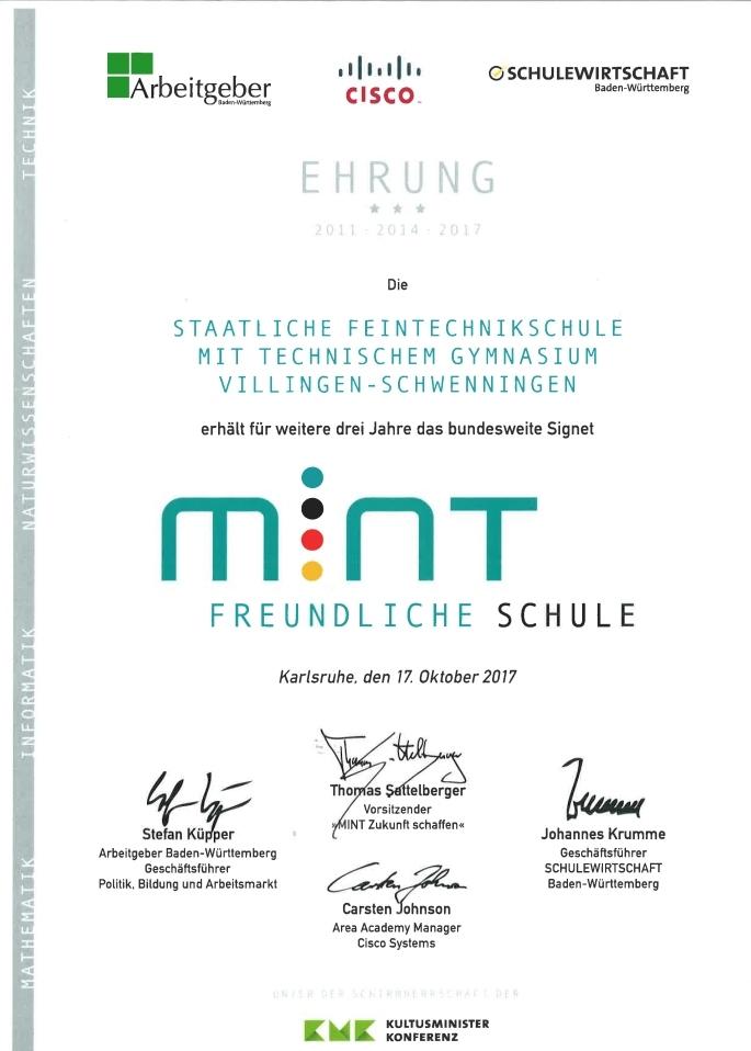 mintfreundliche Schule 2017