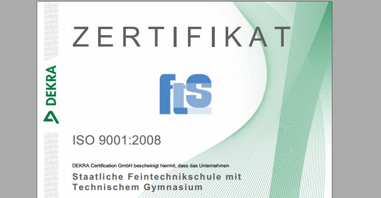 Zertifikat oberer Teil